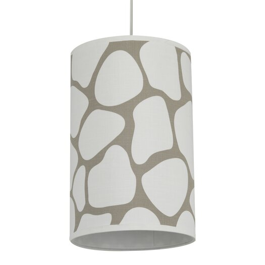 Oilo Cobblestone 1 Light Cylinder Drum Pendant