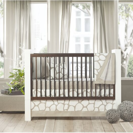 Oilo Cobblestone Patterned Crib Skirt