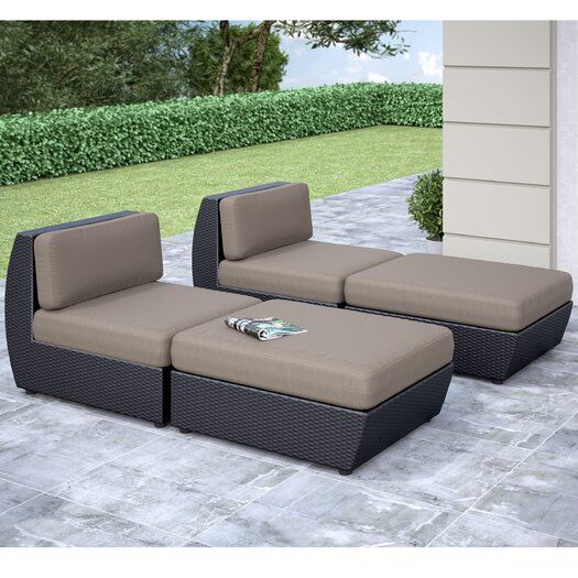 dCOR design Seattle Chaise Lounge with Cushion
