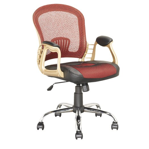 dCOR design Workspace Mid-Back Mesh Executive Office Chair with Arms