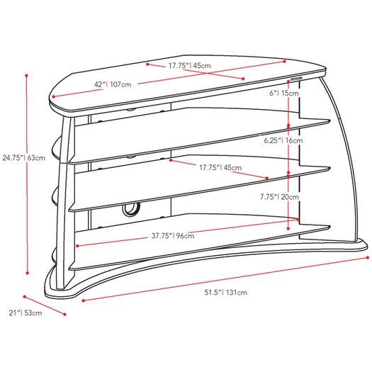 """dCOR design Fior 51.5"""" TV Stand"""