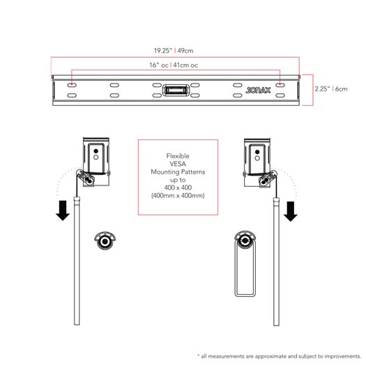 """dCOR design Bracket Fixed Wall Mount for 23"""" - 37"""" Flat Panel Screens"""
