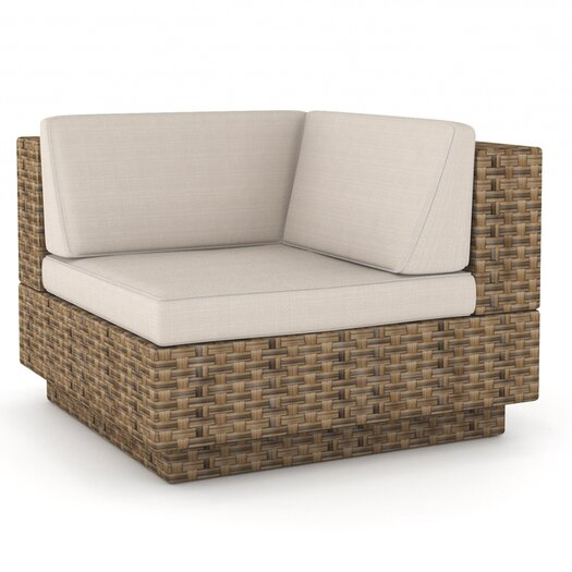"""dCOR design Park Terrace Deep Seating """"L"""" Chair with Cushions"""