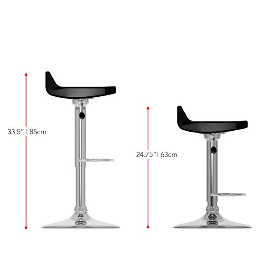 dCOR design CorLiving Adjustable Height Bar Stool