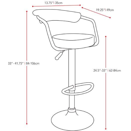 dCOR design Adjustable Height Bar Stool
