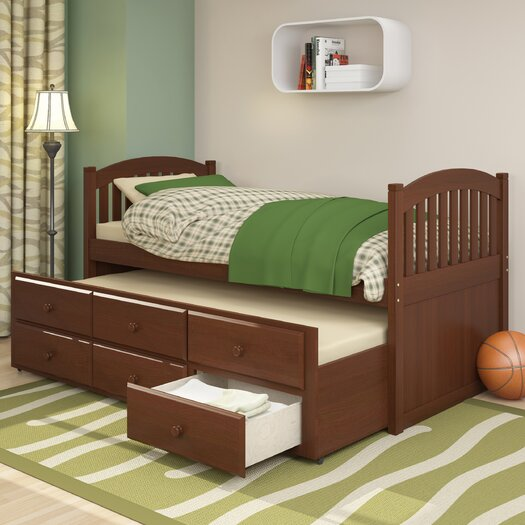 dCOR design Heritage Place Twin Trundle Bed with Drawers