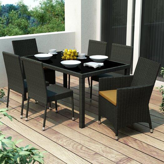 dCOR design Park Terrace 7 Piece Dining Set