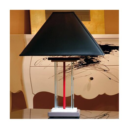 "Wemi Light 24.8"" H Table Lamp with Square Shade"