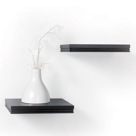 kathy ireland by LH Licensed Products Short Logan Bracketless Ledge Shelf (Set of 2)