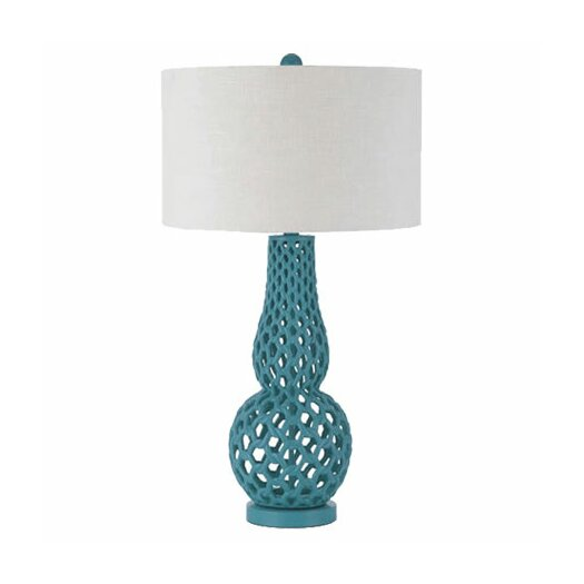 "AF Lighting Horizons Chain Link 31"" H Table Lamp with Drum Shade"