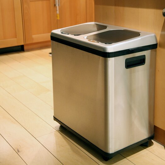 iTouchless 16 Gallon Multi Compartment Recycling Bin
