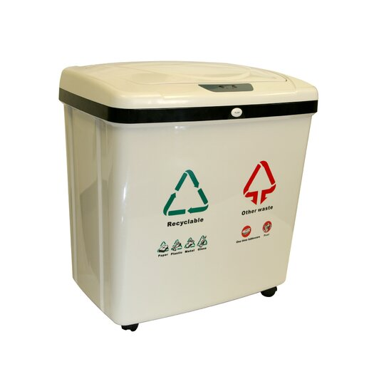 iTouchless Automatic16 Gallon Multi Compartment Recycling Bin