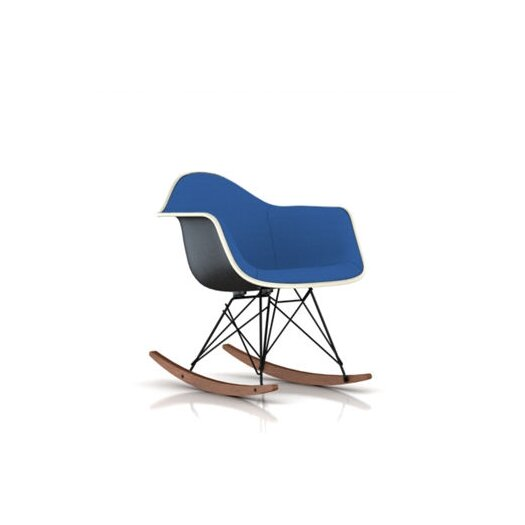 Herman Miller ® Eames Molded Plastic Upholstered Arm Chair with Rocker Base