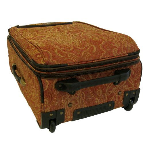American Flyer Paisley Gold 4 Piece Luggage Set