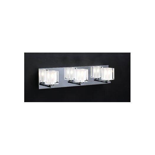 PLC Lighting Glacier 3 Light Vanity Light