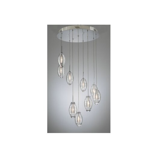 PLC Lighting Wrap 9 Light Pendant