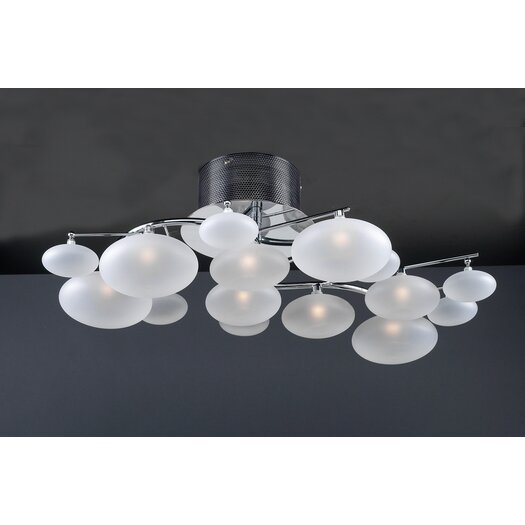 PLC Lighting Comolus 8 Light Semi Flush Mount