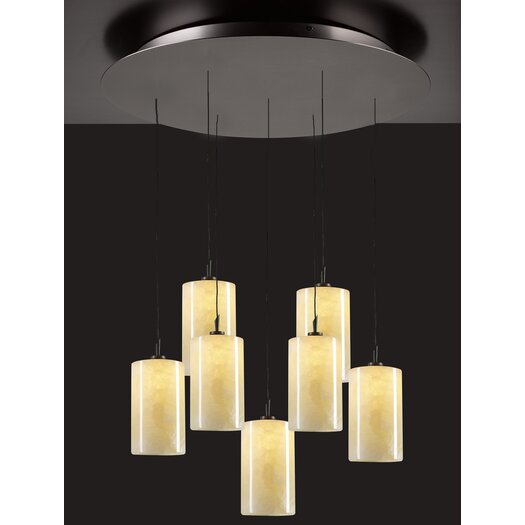 PLC Lighting Cylindro 7 Light Mini Pendant