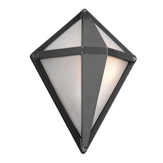 PLC Lighting Aeros 1 Light Outdoor Wall Sconce