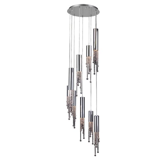 PLC Lighting Trento 9 Light Crystal Chandelier