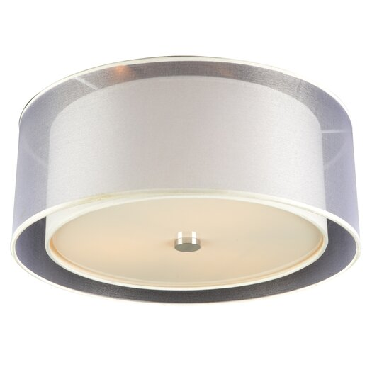 PLC Lighting Merritt 3 Light Flush Mount