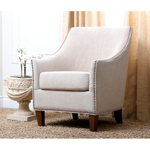 Abbyson Living Jennifer Fabric Nailhead Trim Arm Chair