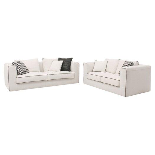 Abbyson Living Ferrara Italian Sofa and Loveseat Set