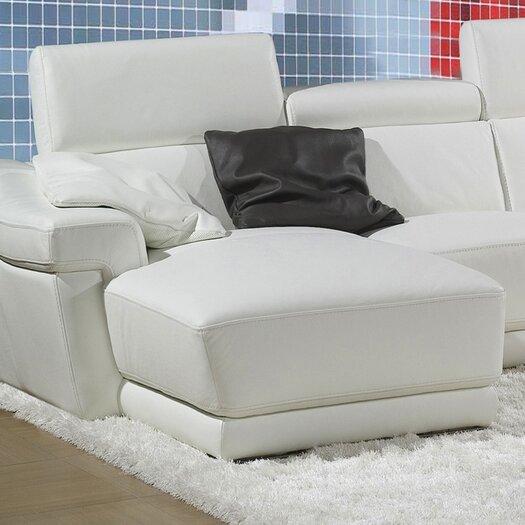 Bellini Modern Living Berton Leather Sectional