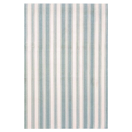 Dash and Albert Rugs Woven Coastal Living Light Blue & Ivory Indoor/Outdoor Area Rug