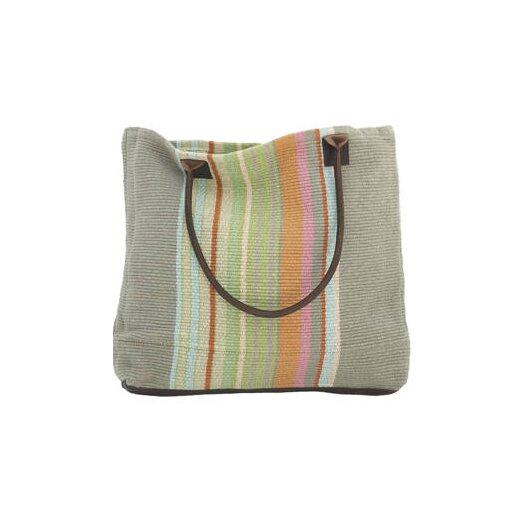 Dash and Albert Rugs Stone Soup Woven Cotton Tote Bag
