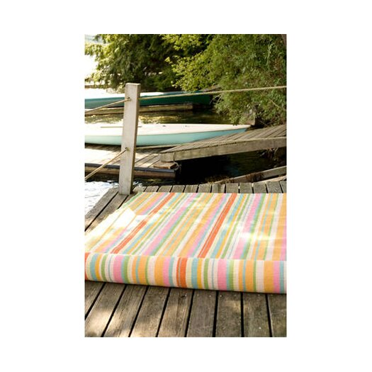 Dash and Albert Rugs Woven Tangerine Dream Outdoor Area Rug