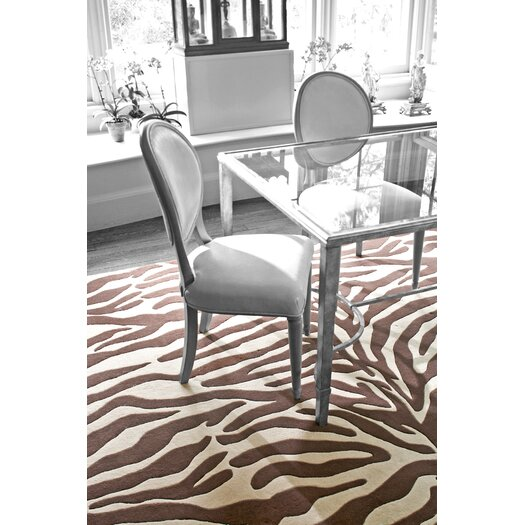 Dash and Albert Rugs Tufted Zebra Brown/Beige Area Rug