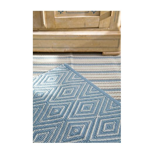 Dash and Albert Rugs Woven Light Blue Diamond Indoor/Outdoor Area Rug