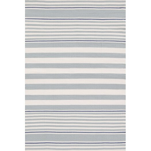 Dash and Albert Rugs Indoor/Outdoor Beckham Blue Striped Outdoor Area Rug