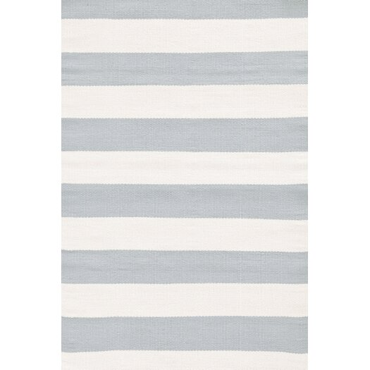 Dash and Albert Rugs Blue / Ivory Striped Indoor / Outdoor Area Rug
