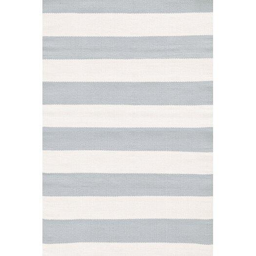 Dash and Albert Rugs Catamaran Grey / Ivory Striped Indoor / Outdoor Area Rug
