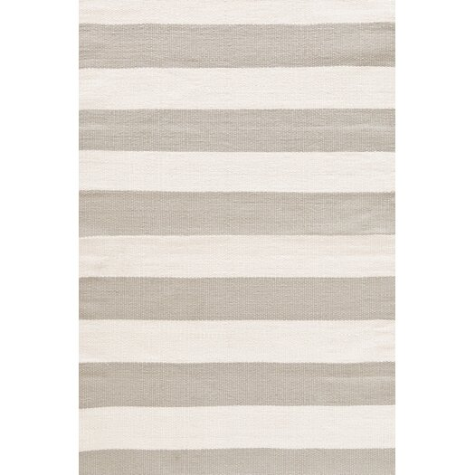 Dash and Albert Rugs Catamaran Ivory/Taupe Striped Indoor/Outdoor Area Rug