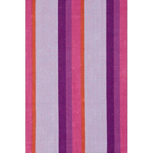 Dash and Albert Rugs Woven Cotton Quartz Striped Rug