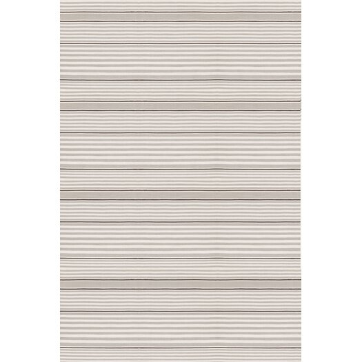Dash and Albert Rugs Rugby Platinum Striped Indoor/Outdoor Area Rug