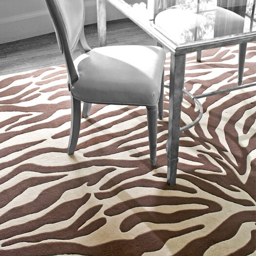 Dash and Albert Rugs Tufted Zebra Brown/Beige Area Rug