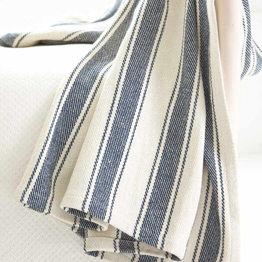 Dash and Albert Rugs Awning Stripe Woven Cotton Throw