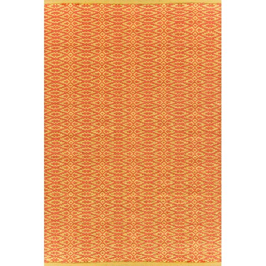 Dash and Albert Rugs Fair Isle Paprika/Curry Geometric Area Rug