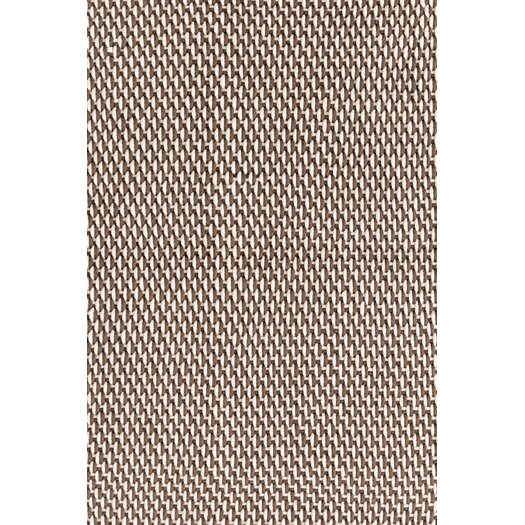 Dash and Albert Rugs Two-Tone Rope Brown/White Indoor/Outdoor Area Rug