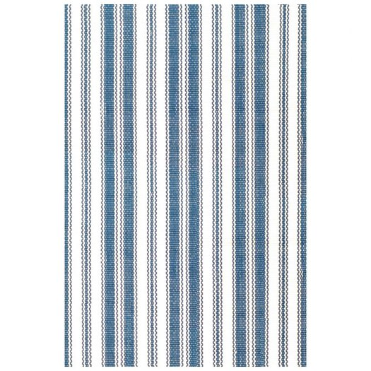 Dash and Albert Rugs Royal Woven Lighthouse Denim/White Indoor/Outdoor Area Rug