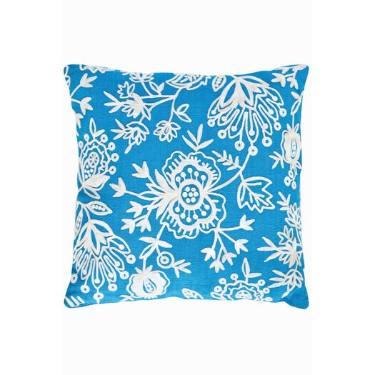Dash and Albert Rugs Fresh American Floral Indoor/Outdoor Pillow