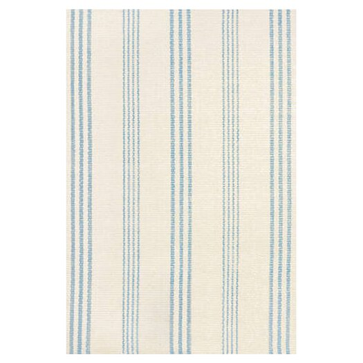 Dash and Albert Rugs Woven Swedish Blue/Ivory Stripe Area Rug