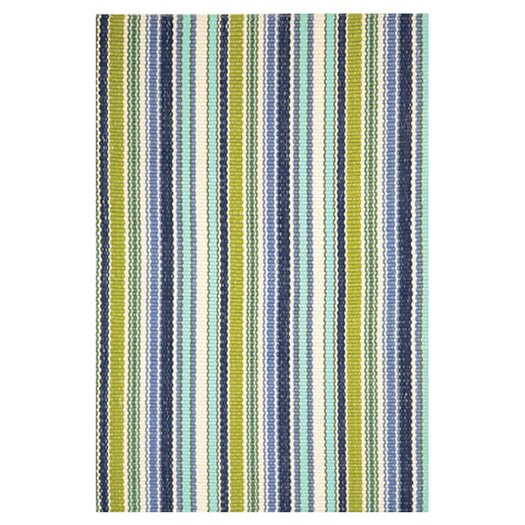 Dash and Albert Rugs Woven Pond Stripe Indoor/Outdoor Area Rug