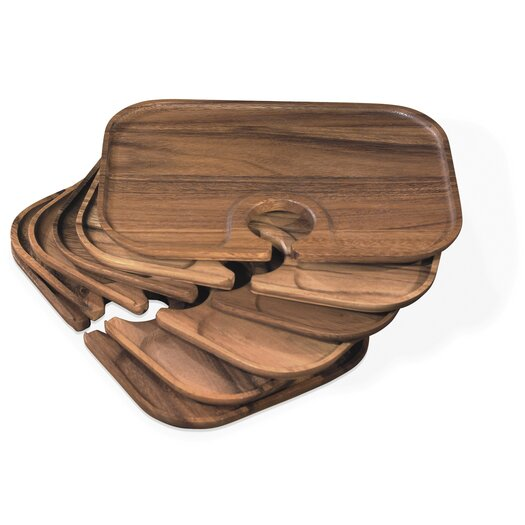 Fox Run Craftsmen Ironwood Gourmet Canape Serving Tray