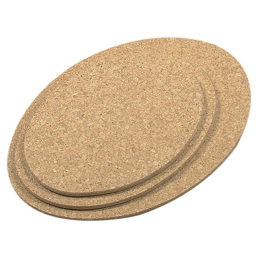 Fox Run Craftsmen 3 Piece Oval Cork Trivet Set