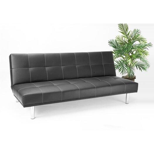 Hazelwood Home Click Clack Convertible Sofa